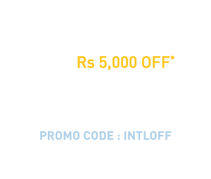 Rs. 5,000 off* on international flight tickets