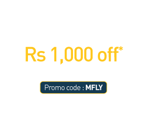 Rs. 1,000 Off* on domestic flight tickets