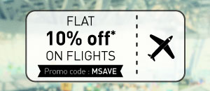 Musafir: Flat 10% off on Domestic Flights