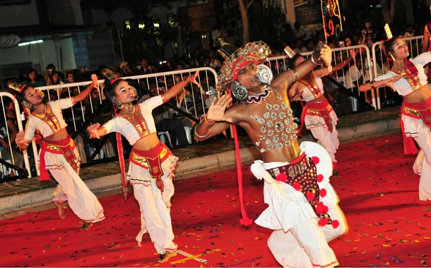 Deepavali light up dance in Singapore