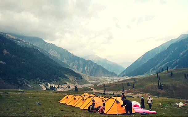 Camping in Sonmarg, Kashmir
