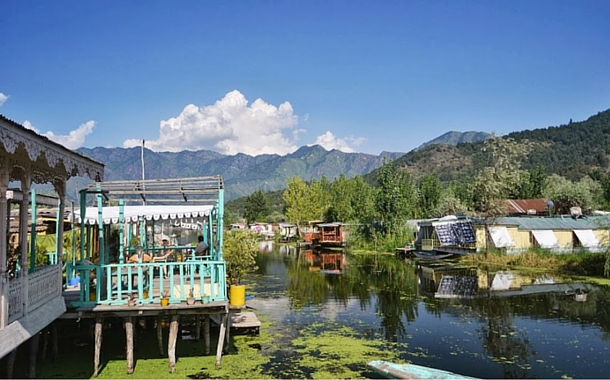 Boat house on Dal Lake, Srinagar