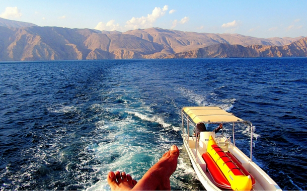Enjoy panoramic views of Oman from the sundeck