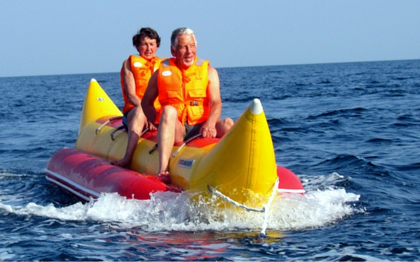 Experience a rush of adrenaline on a banana boat