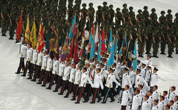 National day parade in Singapore