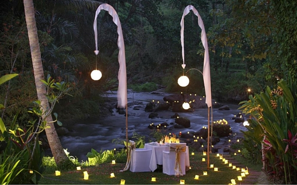 100 Candle Dinner at The Samaya, Ubud
