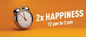 2X Happiness with Happy Hours