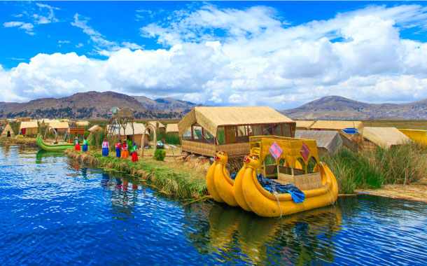 A day on the floating islands of lake Titicaca, Peru