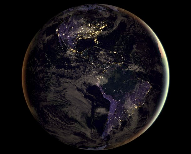 Real image of earth from space