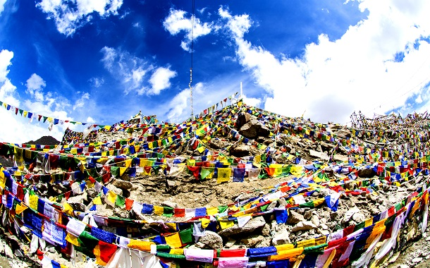 An army of Prayer Flags in Ladakh