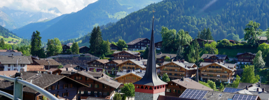 Arrive in Gstaad