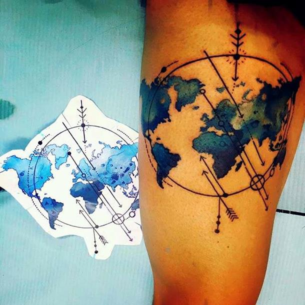 Atlas tattoo
