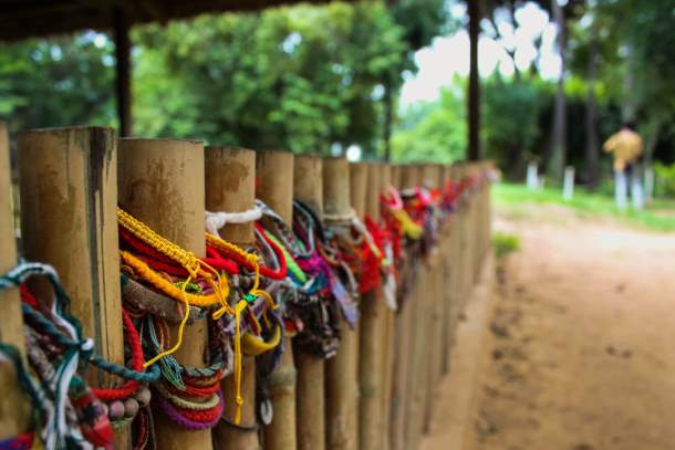 Bracelets at the Killing Fields in Cambodia