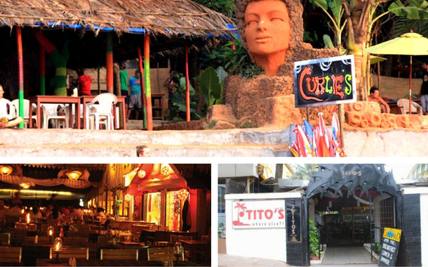 Britto's, Titto's and Curlies, Goa