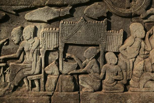 Carvings, Angkor Wat