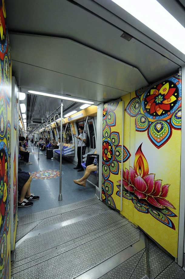 Diwali decoration at Singapore Metro