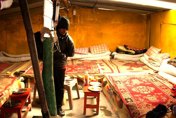 Dormitory style Dhaba Tents, Leh-Manali Highway