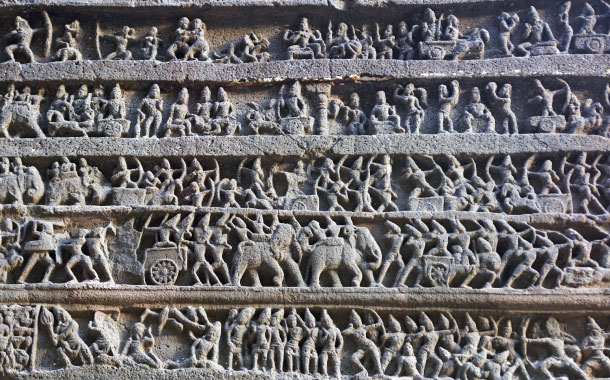 Ellora cave carvings