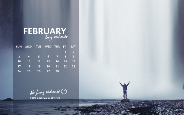 February Long Weekend Planner, 2019