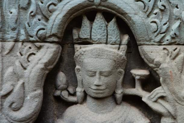 Female God carving