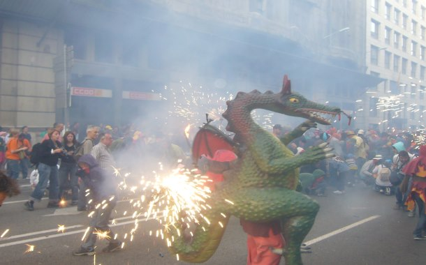 Fire-breathing dragons, La Mercè
