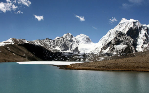Gurudongmar Lake in Sikkim, India