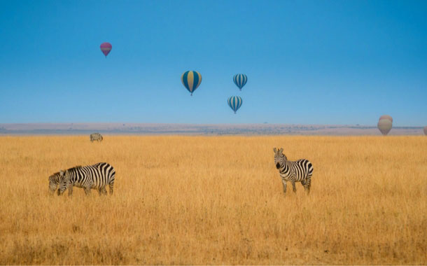 Hot Air Balloon in Serengeti, Tanzania