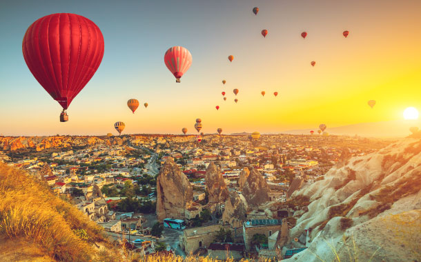 Hot-air balloon ride in Cappadocia