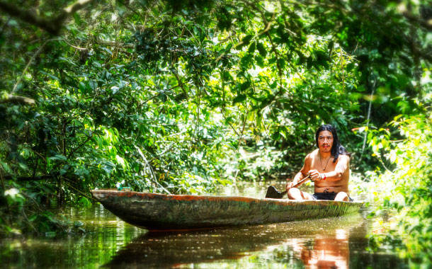 Indigenous Man, Amazon Jungle