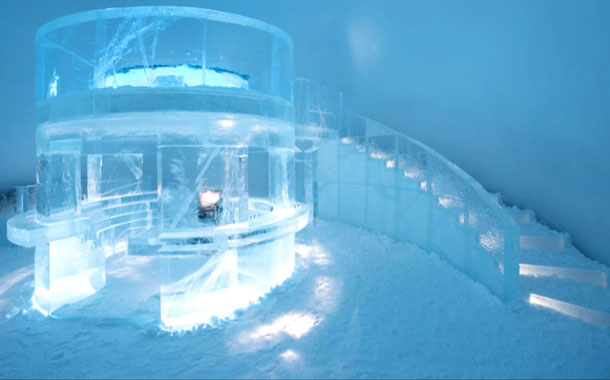 Inside the icehotel, Sweden