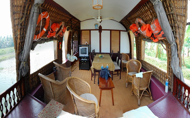 Interiors of a house boat