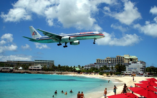 Maho Beach, Saint Marin