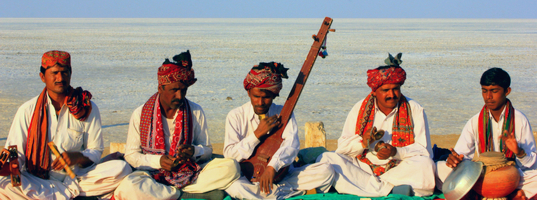 Musicians at Rann of Kutch