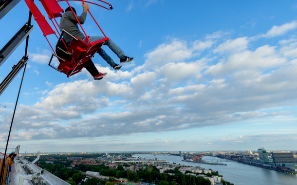 Over the Edge Swing, Amsterdam Netherlands