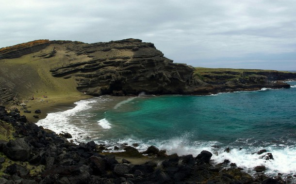 Papakolea Green Sand Beach, Hawaii