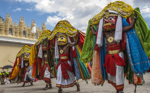 Procession during Dasara