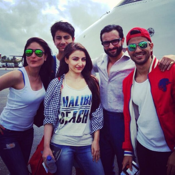 Saif Ali Khan and Soha Ali Khan vacationing in Maldives