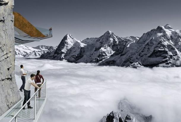 schilthorn thrill walk, switzerland