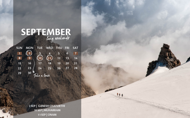 September Long Weekend Planner, 2019