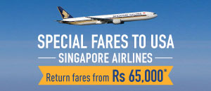 Special fares to USA with Singapore Airlines