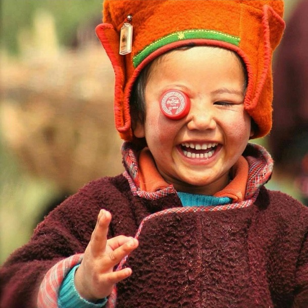 Smiling kid, Ladakh