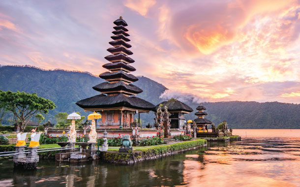 Temple at Bratan Lake, Bali