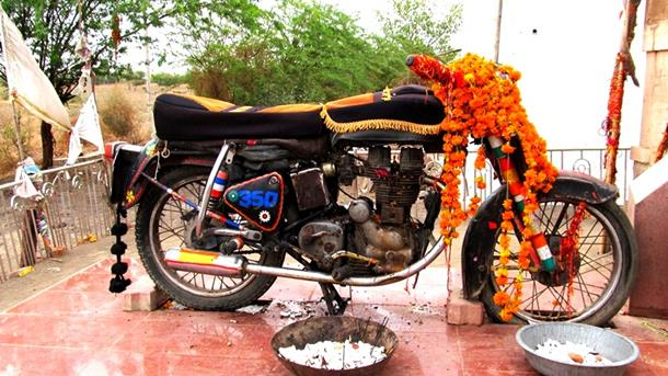 The Motorcycle God - Bullet Baba Shrine, Rajasthan
