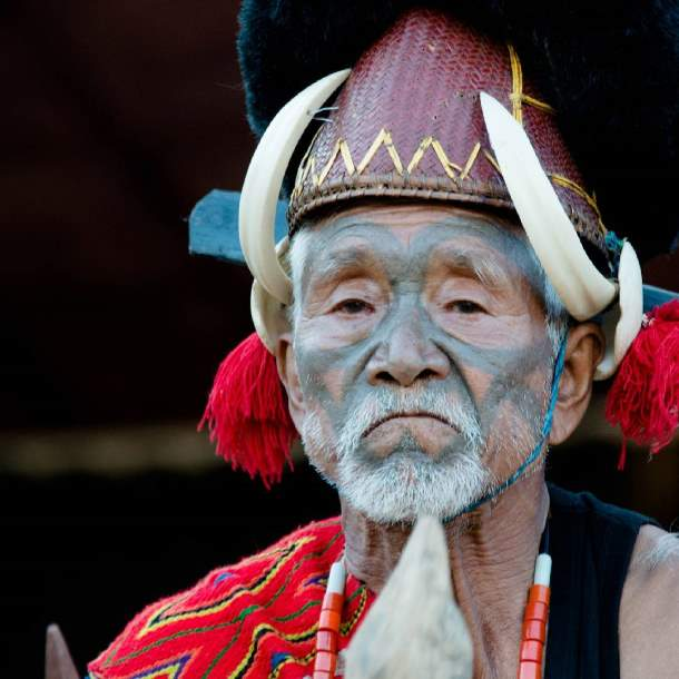 Tribal man, Nagaland
