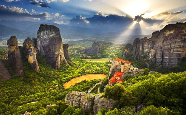 UNESCO World Heritage site of Meteora, Greece