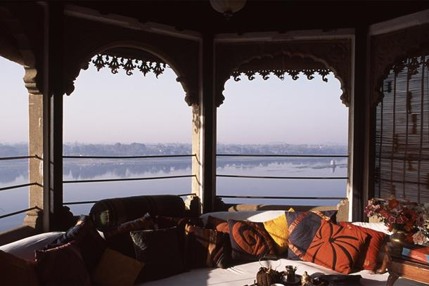 View from Ahilya Fort Hotel, Maheshwar, Madhya Pradesh