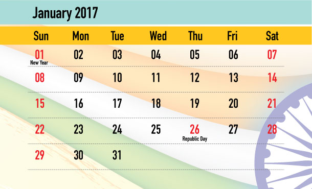 Weekend Calendar - January