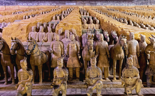 The world famous Terracotta Army, Xi'an